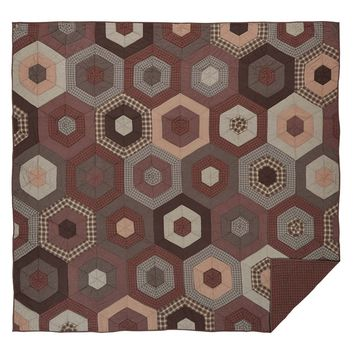 Graham - Twin - Honeycomb Patchwork Quilt - Ashton & Willow - Spring 2017