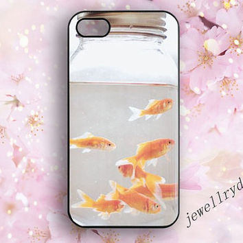 Goldfish iPhone Case,Bottle iPhone 4/4s Case,cute fish iPhone 5/5s Case,Bottle   iPhone 5 Case,goldfish samsung galaxy s4 s5 case