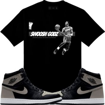Jordan Retro 1 Shadow Sneaker Tees Shirt to Match - SGMJ