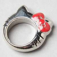 The Hello Kitty Peek A Boo Ring