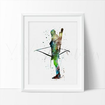 Legolas, Lord of the Rings Watercolor Art Print