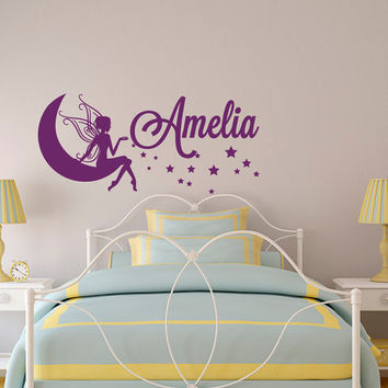 Personalized Name Wall Decal- Baby Girl Nursery Wall Decal - Girls Name Wall Decals- Wall Decals Nursery Kids Girls Bedroom Home Decor 012