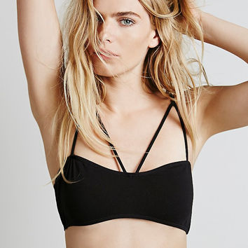Black Strappy Back Bra Top