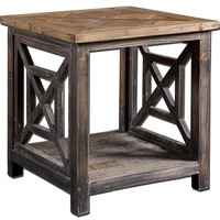Uttermost Spiro Reclaimed Wood End Table - 24263