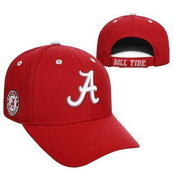 Licensed Alabama Crimson Tide NCAA Adjustable Triple Threat Hat Cap Top of the World KO_19_1