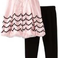 Rare Editions Little Girls' Toddler Legging Set, Pink/Black, 3T