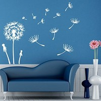 Wall Decals Vinyl Decal Sticker Beauty Salon Dandelion Flower Interior Design Art Murals Bedroom Living Room Decor