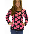 Love Buggy Pink Heart Sweater