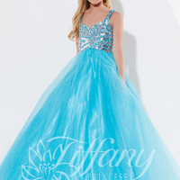 Halter Beaded Tiffany Princess Pageant Dress 13399