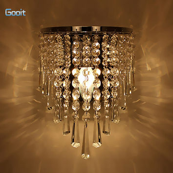 Modern Crystal Chandelier Wall Light Lighting Fixture 220V E14 LED Ceiling Lights