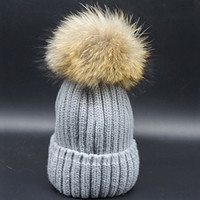 Big Woolen Ball Top Waring Sweety Knitted Hat