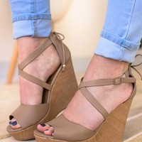 Put It In Neutral Strappy Wedge