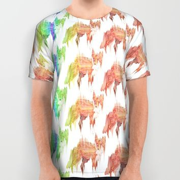 Remix Red Fox All Over Print Shirt by Ben Geiger