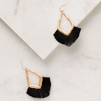 Morning Sun Black Fringe Earrings