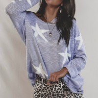 Memory Lane Lavender Star Sweater