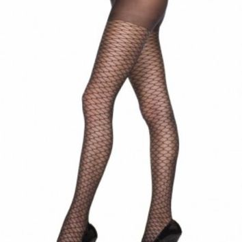 Tights Honeycomb Design Pantyhose