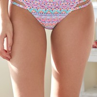 LA Hearts Side Strappy Bottom - Womens Swimwear - Multi Color