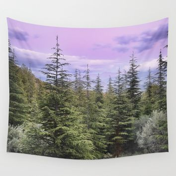 """Wildderness II"". Adventure at the mountains... Wall Tapestry by Guido Montañés"