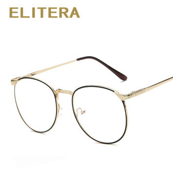 ELITERA 2017 New Fashion glasses frame men women vintage myopia eyeglasses frame oculos de grau femininos Plain lens Frame