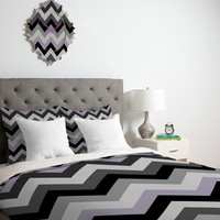 Black Chevron Duvet Cover - Twin, King Queen Size Duvet - Chevron Blanket - Black Chevron Duvet - Chevron Bedding