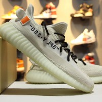 Adidas x Off White Yeezy Boost 350 V2 Triple White Men Women Sneaker
