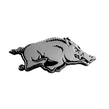 Arkansas Razorbacks NCAA Chrome Car Emblem (2.3in x 3.7in)