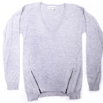 Central Park West Girls Double Zipper Sweater