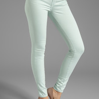 J Brand Midrise Power Stretch Super Skinny in Glass from REVOLVEclothing.com