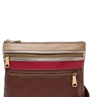 Women's Fossil 'Explorer' Leather Crossbody Bag - Brown