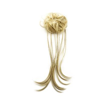 Merrylight Hair Extension Scrunchie Ponytail Synthetic Messy Bun Hair Piece (...