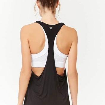 Active Heathered Racerback Tank Top