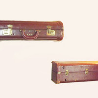 Vintage Suitcase Shelves  Set of 2 by QuirksByAnnie on Etsy