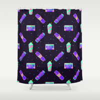 Skat80s Shower Curtain by BadOdds