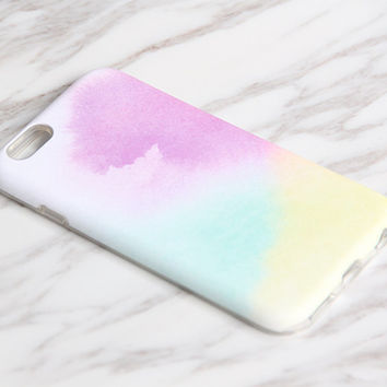 Bright Rainbow Pastel iPhone 7|6s Plus|SE|5 & Samsung Galaxy S8|S7|S6 tough snap cases KB945