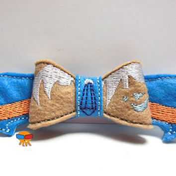 Atlantian Princess inspired 3D felt bow felt clippie physical item made to order