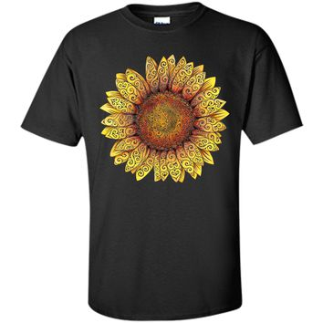 Charming Spiral Sunflower 2017 T Shirt