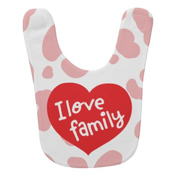 Claire Blossom Pink leopard Baby Bib