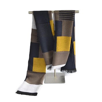 Classic England Color Plaid Scarf Fashion Brand Luxury Patchwork Striped Scarf Men Cotton Scarves Blanket scarf hijab