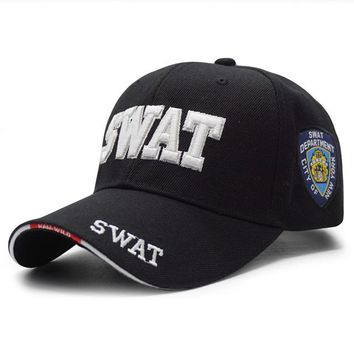 Sports Hat Cap trendy  New Men Tactical Baseball Cap SWAT Embroidery Letter Snapback Dad Hat Bone Male Summer Sports Army Sun Trucker Cap Black Gorras KO_16_1