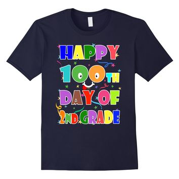 Happy 100th Day Of 2nd Grade First 100 Days of School Shirt