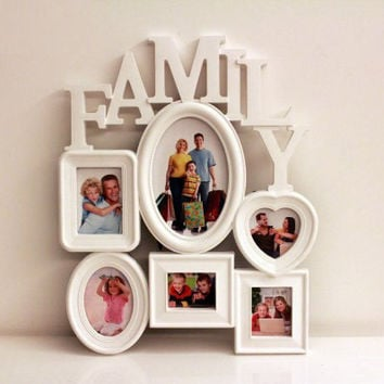 Creative Fashion Photo Frame Combination Wedding Plastic Frame With Family Theme, Can Save On Wall or Table, Room Decoration