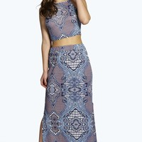 Petite Molly Paisley Maxi Skirt Co-ord Set
