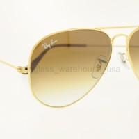 RAY-BAN RB 3025 001/51 55MM GOLD FRAME BROWN GRADIENT LENSES SUNGLASSES