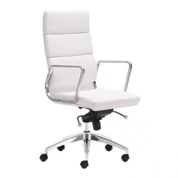 ZUO Modern Engineer 205893 High Back Office Chair White