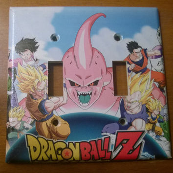 Dragon Ball Z double toggle light switch cover
