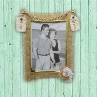 5x7 Burlap Wedding Frame - Bridal Frame - Burlap Wedding - 5x7 Picture Frame - Glass Frames - Bride and Groom - Photo Frame