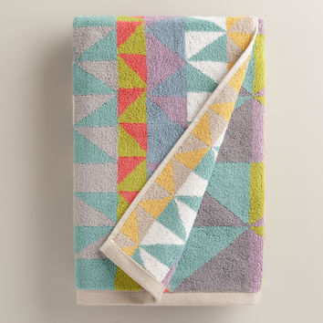 Triangle Jacquard Calisto Bath Towel