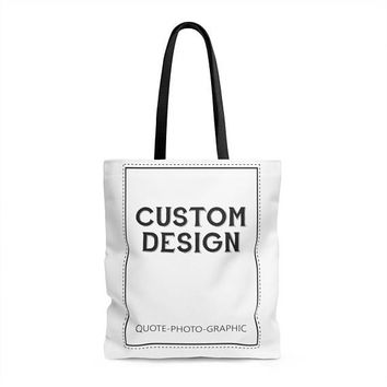 Personalized Aop Tote Bag - Custom Shopping bag for women / kids / dog / walkers / book