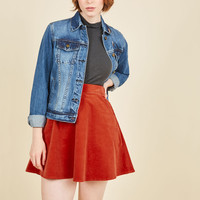 Whirl's Greatest Skirt in Cayenne | Mod Retro Vintage Skirts | ModCloth.com
