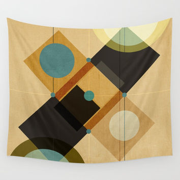 Geometric/Abstract 3 Wall Tapestry by ViviGonzalezArt